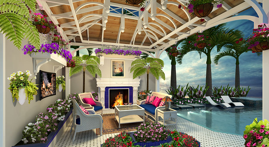 Boat Trolley Model Home Conservatory Rendering | Boat Trolley: Innovative Boat Docking & Storage Solutions